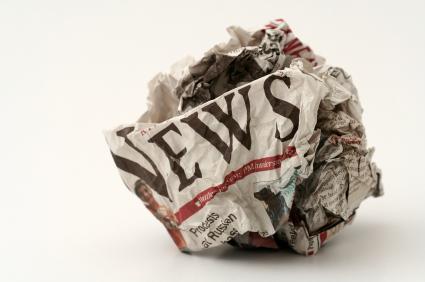 wad of newspaper
